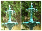 Before and after with enhanced shutter speed