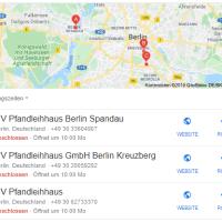 Pfandleiher Adressen in Berlin