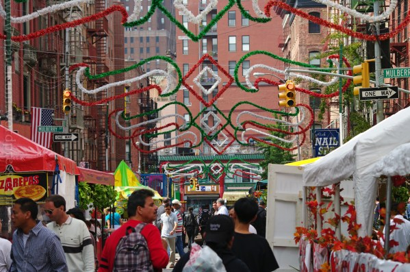 San Gennaro in Little Italy, NYC