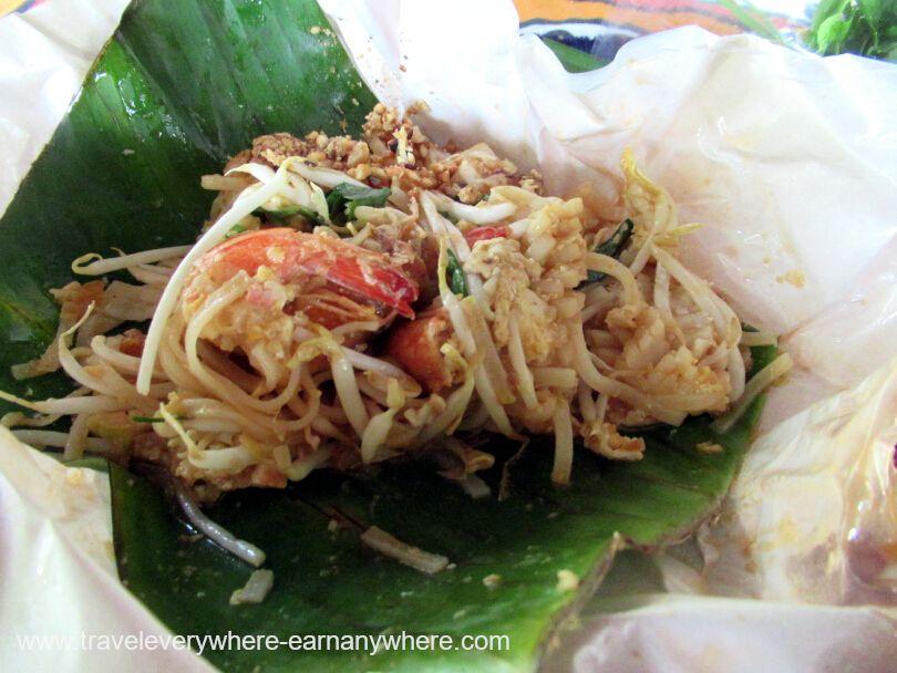 Pad Thai breakfast in Bangkok