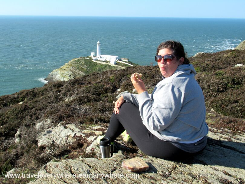 Picnic lunch at South Stack Lighthouse, Anglesey, Wales.