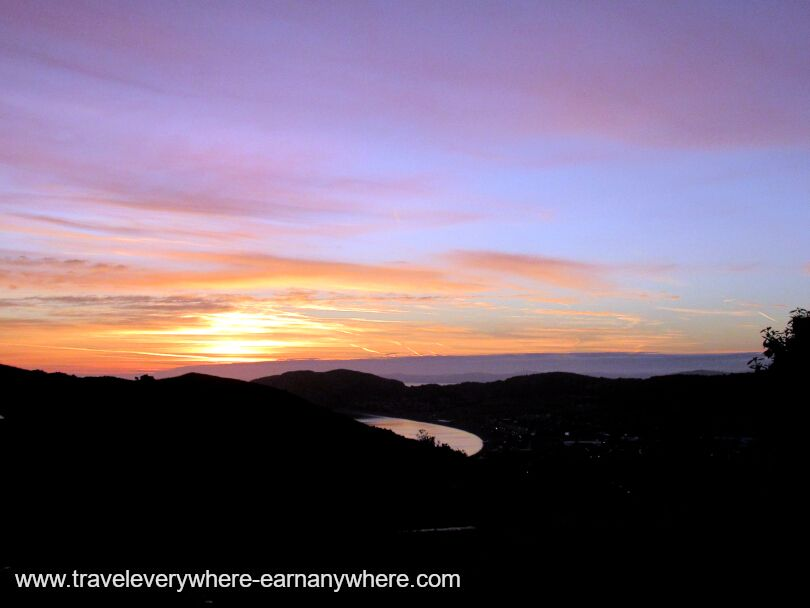 Sunrise house sitting as a digital nomad in Wales