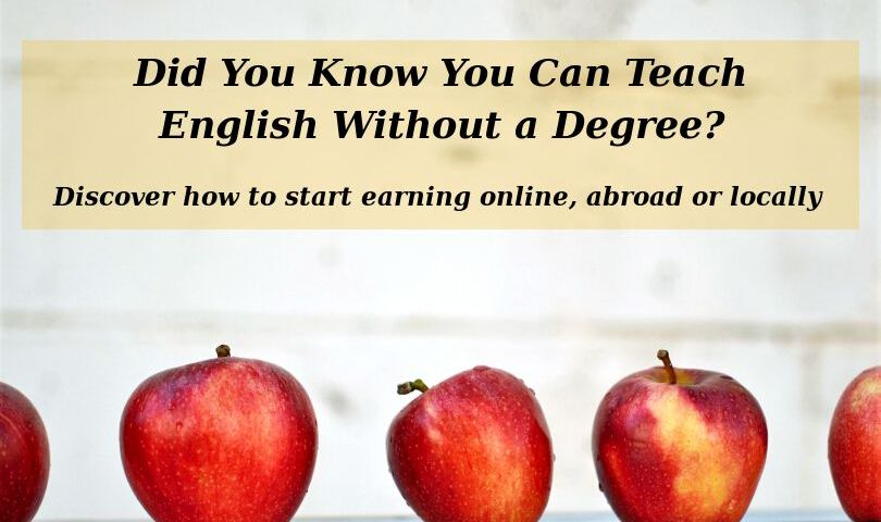 Did you know that you can teach English without a degree? Discover how to start earning online, abroad or locally