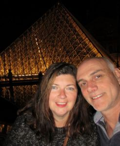 Rach and Chris at the Louvre