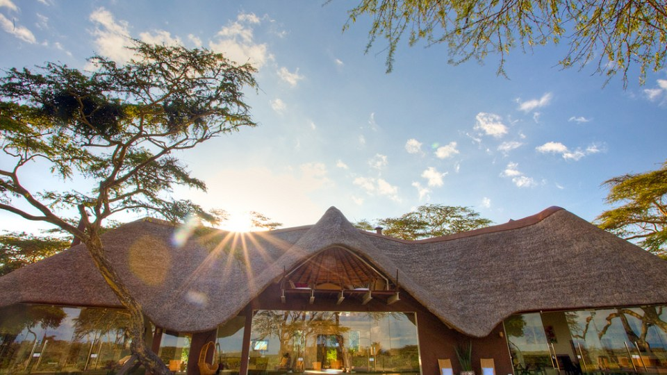Front view of the lodge - Solio Lodge, Kenya, Africa