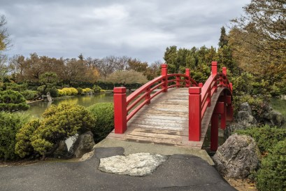 Bridge over the Japanese Friendship Garden