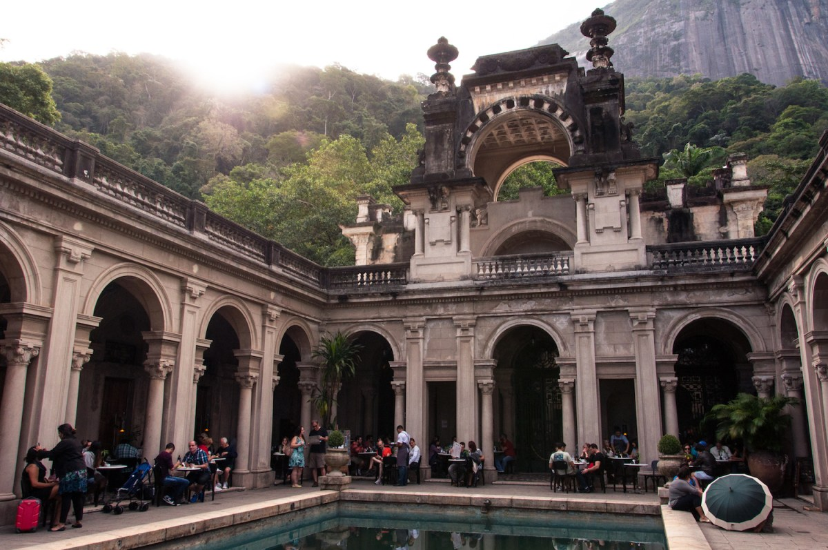 Courtyard of the Mansion of Parque Lage in Rio de Janeiro