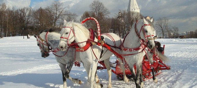 Nothing shouts Russia in winter like a troika and sleigh