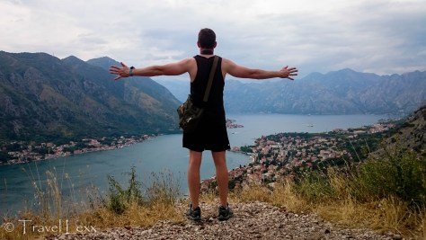 Admiring the Bay of Kotor