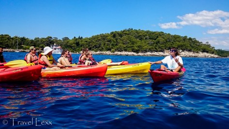 Kayaking around Lokrum Island
