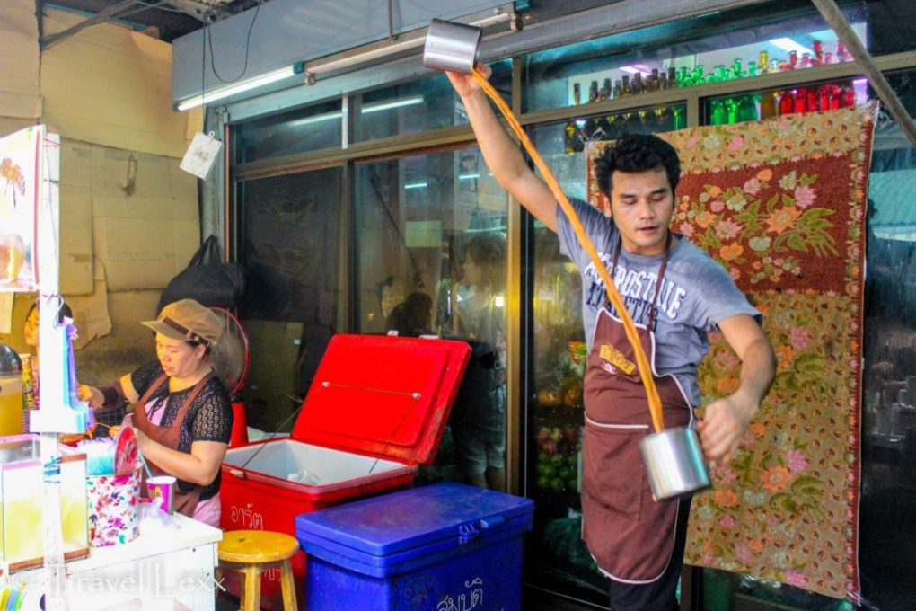 An alternative barista at Chatuchak Market