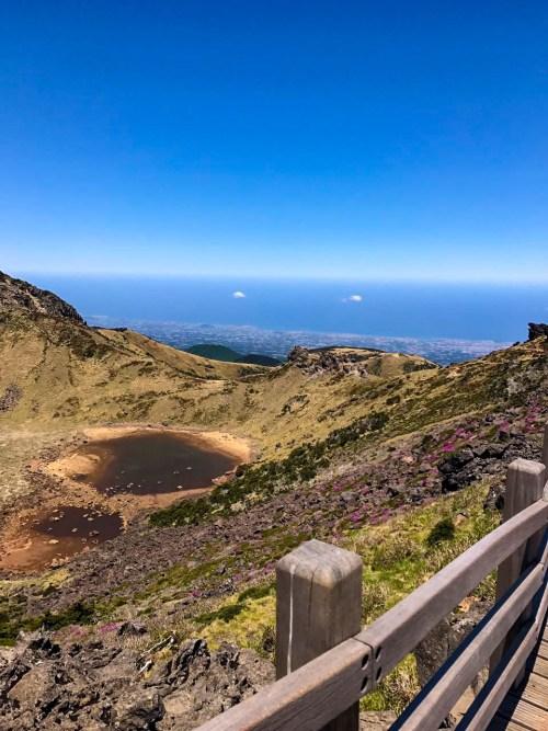 View from Hallasan, Jeju Island - Korea hiking trails