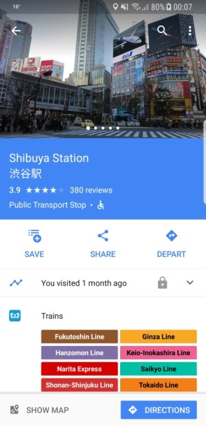 Travel Apps - Google Maps