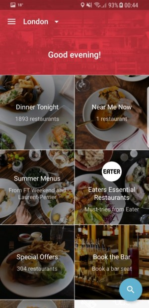 Travel Apps - OpenTable