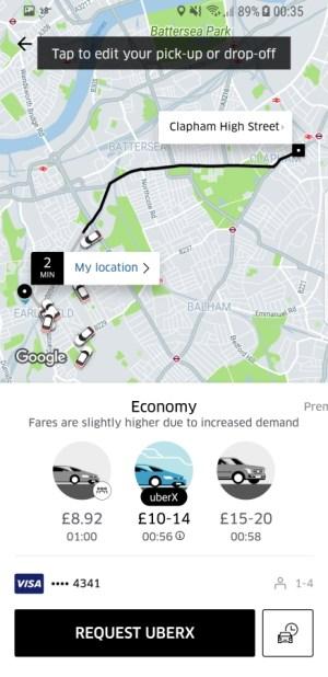 Travel Apps - Uber