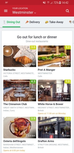 Travel Apps - Zomato