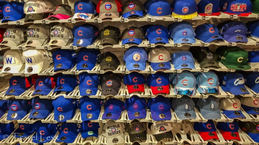 Merchandise at Wrigley Field