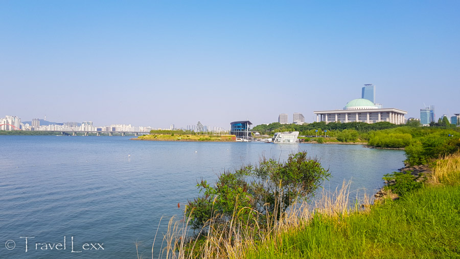 View of Yeouido - Cycling in Seoul