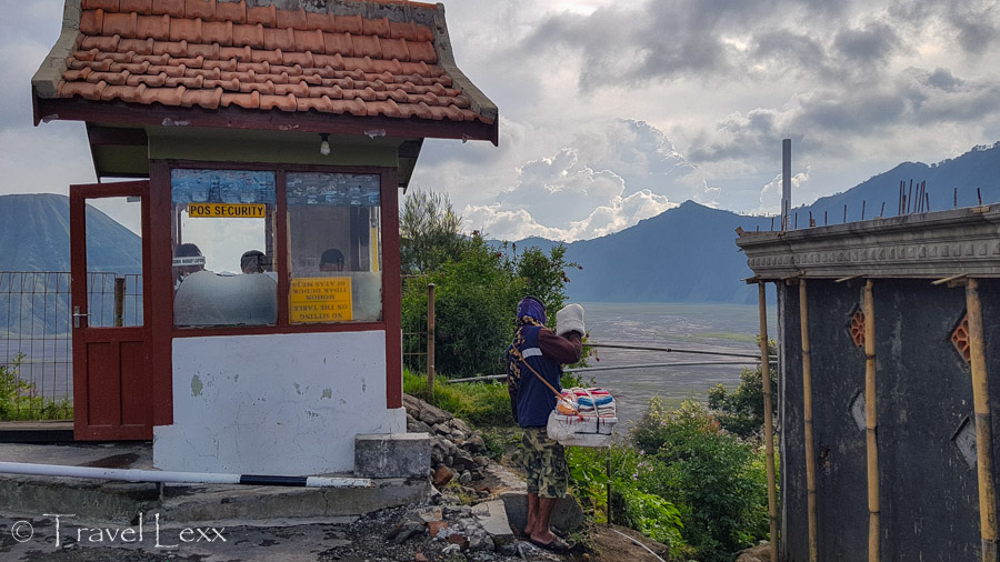 The security hut in Cemoro Lawang where you can pay the national park fee to access Mount Bromo