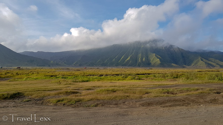 Sea of Sand and the surrounding landscape of the Bromo Tengger Semeru National Park