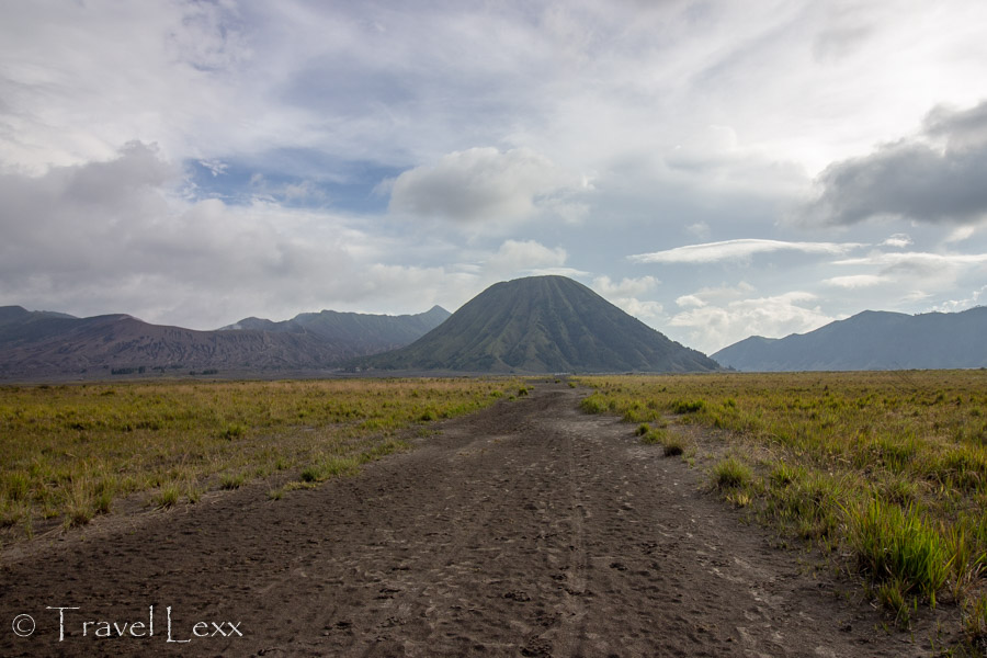Sea of Sand with Mount Batok and Mount Bromo in the background