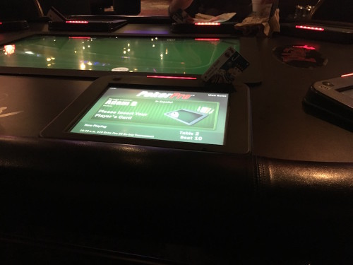 Poker Pro Table at the Plaza