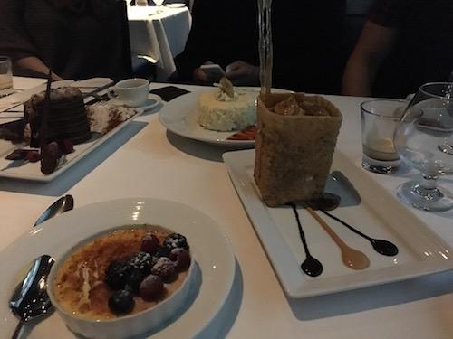 Lots of dessert.