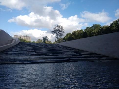 Water terraces.