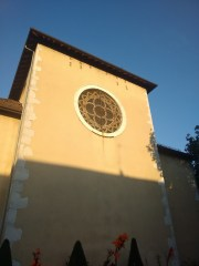 Back of the church.