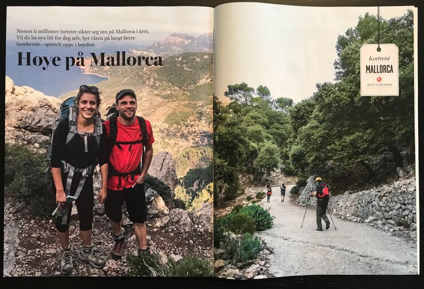 Travel article from hiking the Serra de Tramontana, Mallorca, Spain. 5 pages in the magazine VG Reise