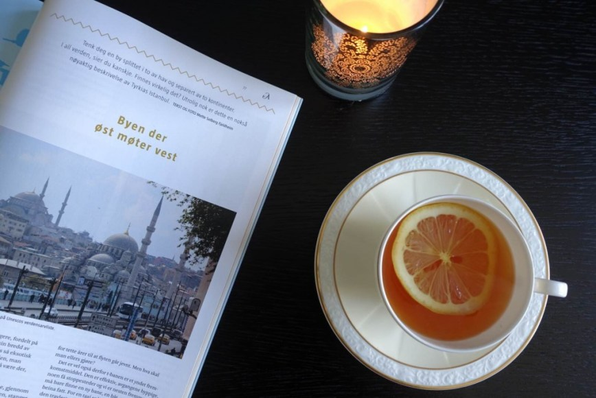 Travel article about Istanbul in the literary magazine Aschehoug Litteratur