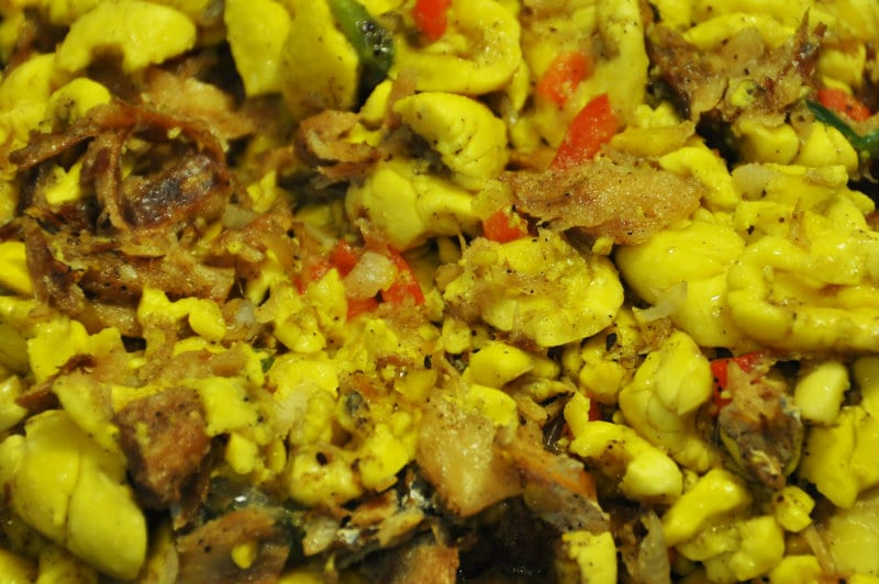 Typical Jamaican Ackee and Salt Fish