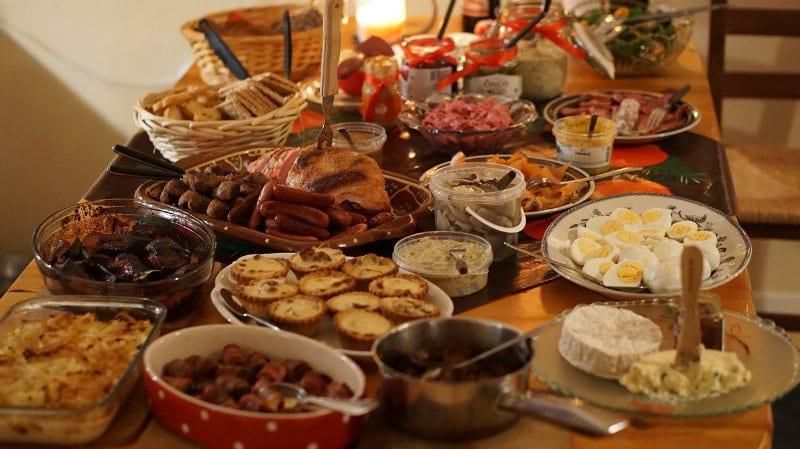In Sweden for Christmas dinner they eat Julbord