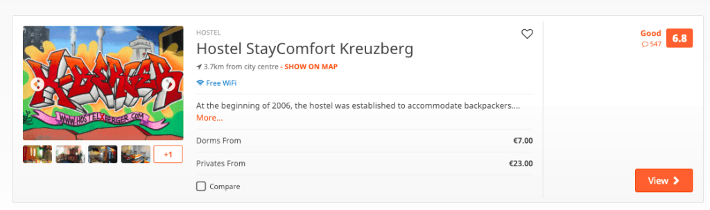 Hostels are one of the cheapest places to stay in Berlin