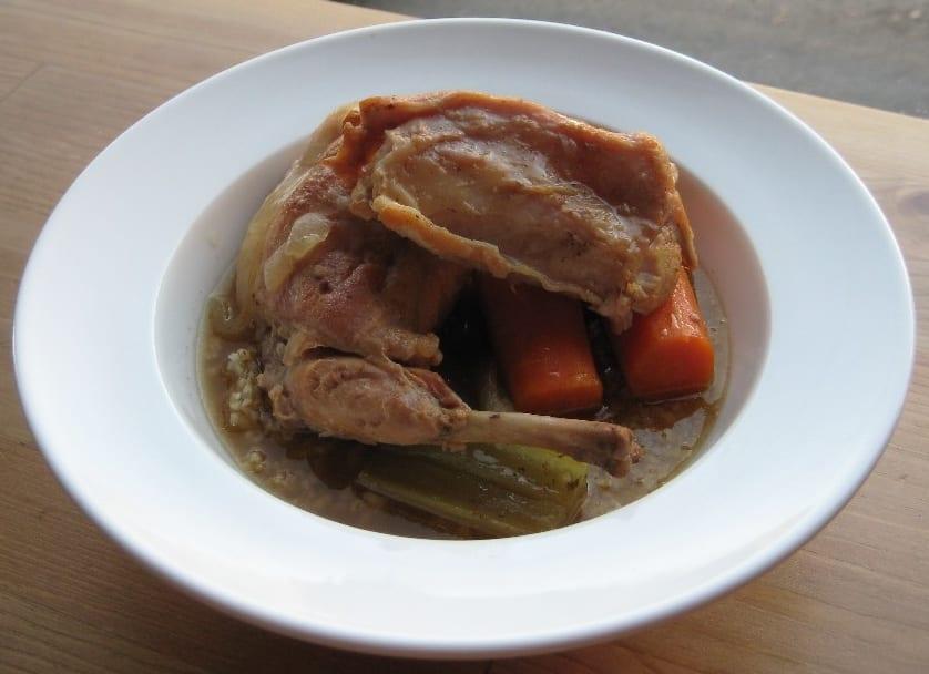 Fenkata is a Maltese rabbit stew