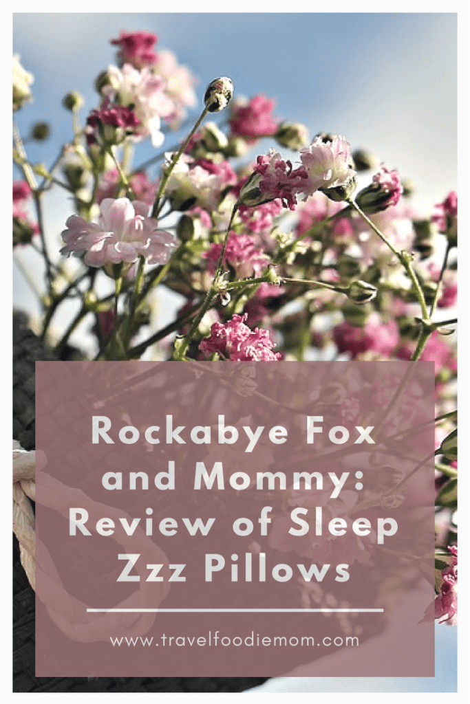 Rockabye Fox and Mommy: Review of Sleep Zzz Pillows