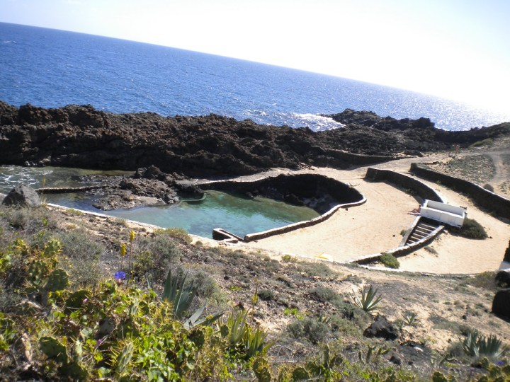 One of the pools in El Charco del Palo, a naturist village that should be on any Lanzarote itinerary and things to do list.