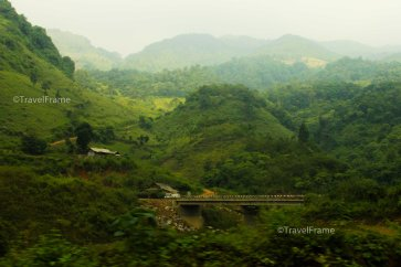 The view from Lao Cai to Can Cai