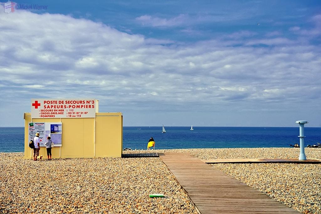 1st Aid post on the Dieppe beach