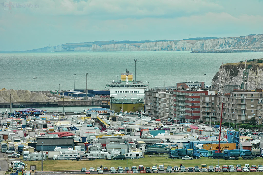 Ferry docked in the harbour of Dieppe