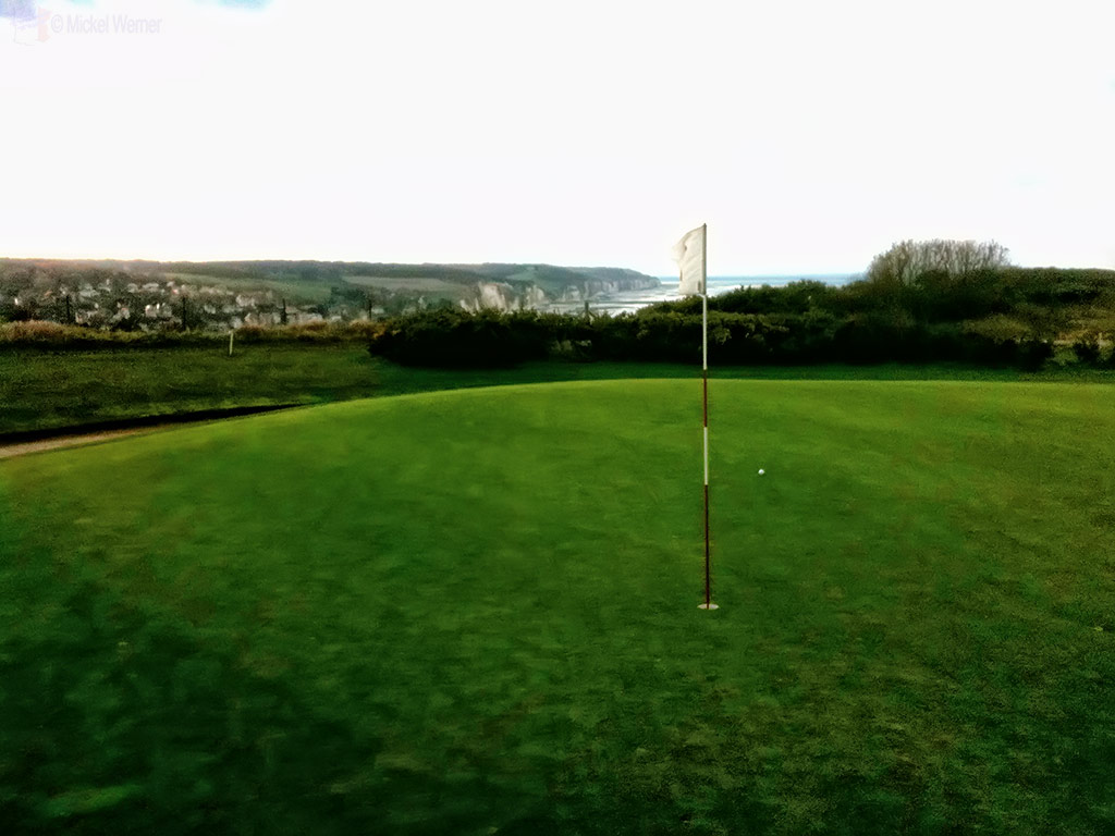 Old golf course of Dieppe on the cliffs