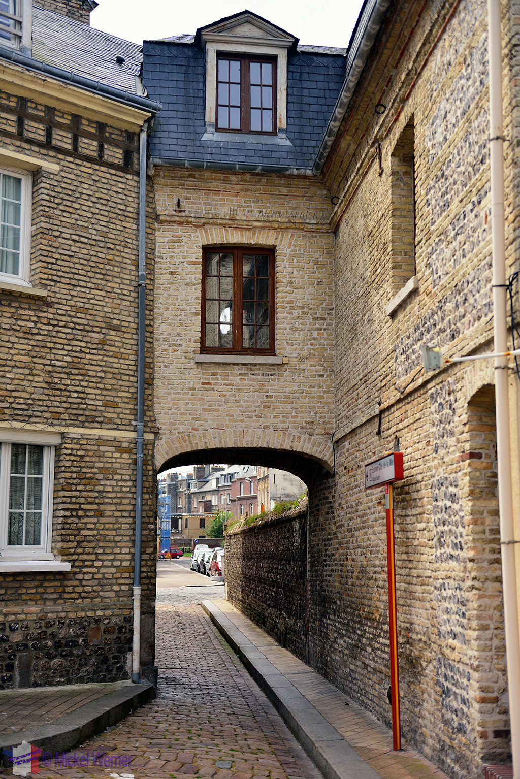 Narrow street of Dieppe