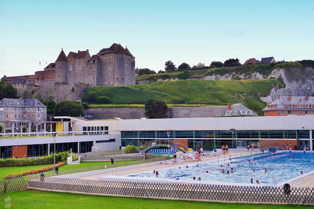 Public swimming pool below the Dieppe castle