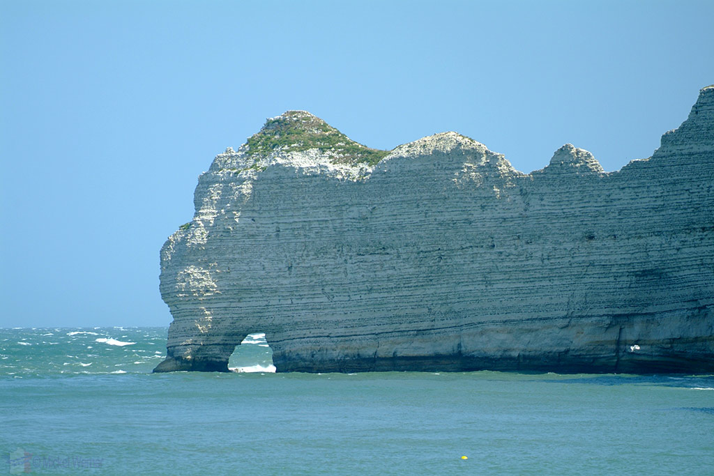 Amont cliffs and arch at Etretat