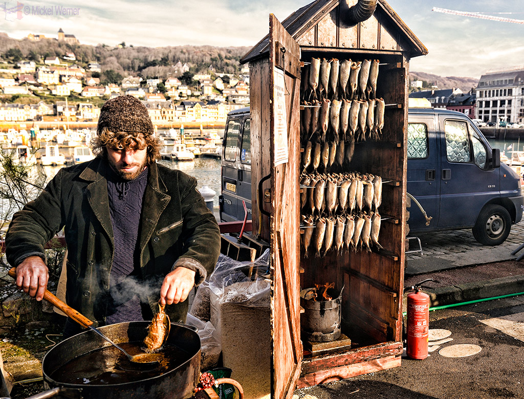 Traditional herring smoker (from The Netherlands) at the Fecamp Herring Festival