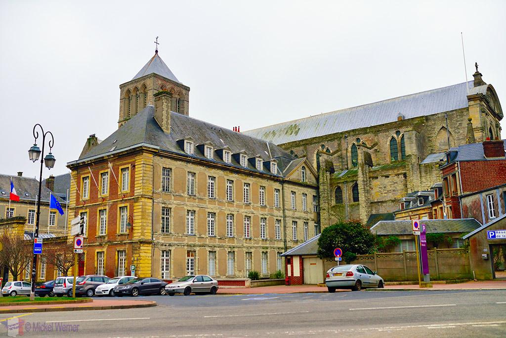 Fecamp City Hall built against the Trinity Abbey church