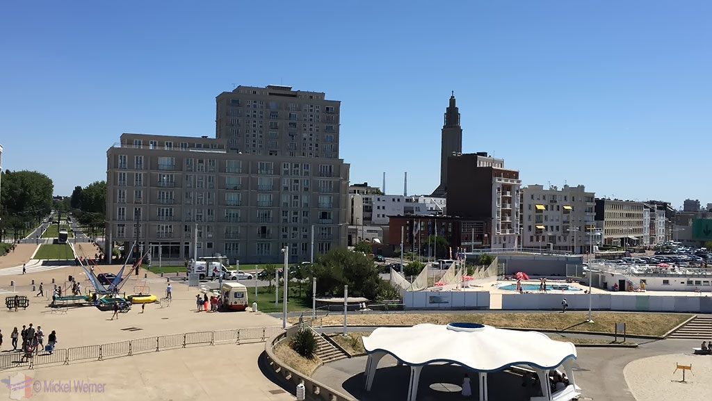 Le Havre start of the beach area