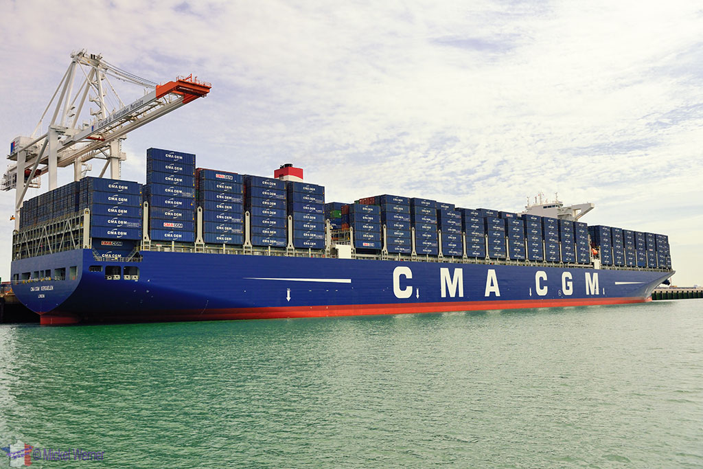 One of world's biggest container ships