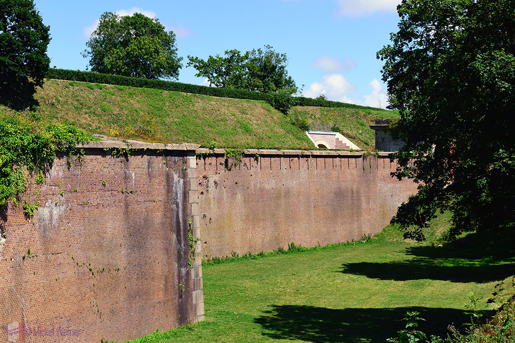 The fortress walls of the Jardins Suspendu of Le Havre