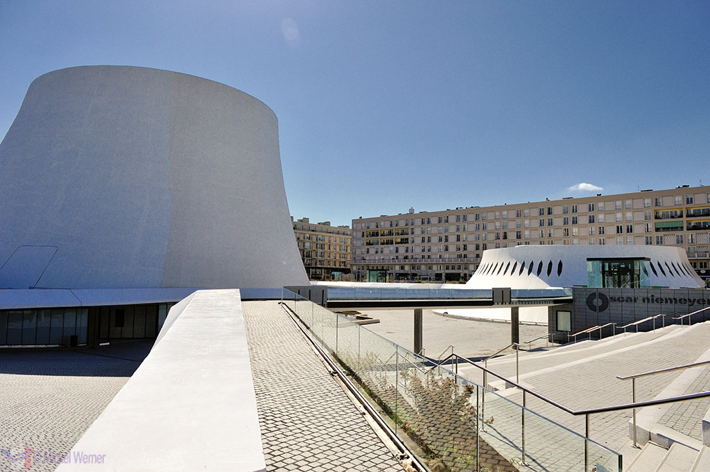 Oscar Niemeyer's concert hall, the Volcano, in Le Havre